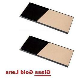 2 EACH - Shade 11 Glass GOLD 2 x 4.25 Welding Hood Lens Helm