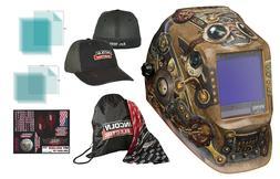 .Lincoln 3350 Steampunk Auto Darkening Welding Helmet W/ FRE