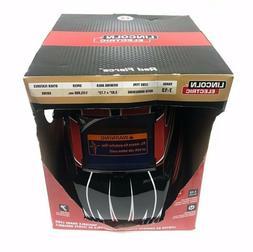 Lincoln Electric Auto Dark Welding Helmet Hood Red Fierce Le