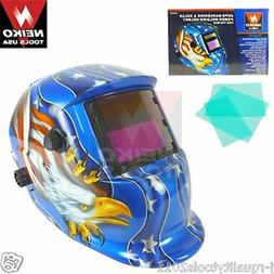 Auto-Darkening & Solar Power Welding Helmet For TIG/MIG - Am