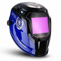 Auto Darkening Solar Powered Mig Tig Arc Welding Helmet LED