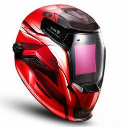 Auto Darkening Solar Powered Mig Tig Arc Welding Helmet Adju