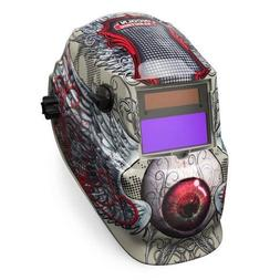 Auto Darkening Welding Helmet, Tan/Red, 600S, 9 to 13 Lens S