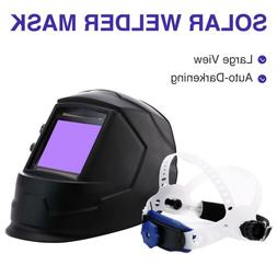 Auto-Darkening Welding Helmet Large View Area Pro Solar Weld