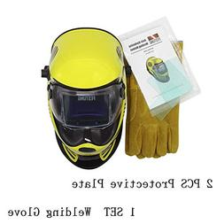 Auto-Darkening PRO Solar Welding Helmets with 5-8/9-13  Arc
