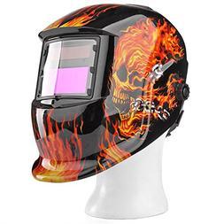 Flexzion Auto Darkening Welding Helmet Solar Powered Weld Gr