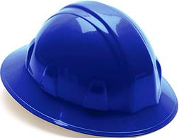 Pyramex Full Brim 4 Point Ratchet Suspension Hard Hat - Blue