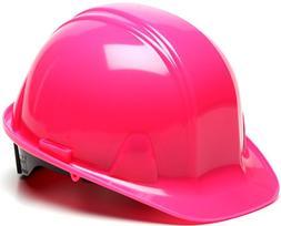 Pyramex Cap Style 4-Pt Ratchet Hard Hat, Pink, 12pk