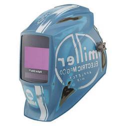 MILLER ELECTRIC 281004 Welding Helmet,Vintage Roadster,Blue