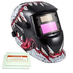 iMeshbean Pro Cool Solar Power Auto Darkening Welding Helmet