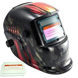 iMeshbean Military Green Design Solar Powered Welding Helmet