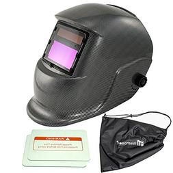 iMeshbean Welding Hood Helmet Solar Auto Darkening Powered M
