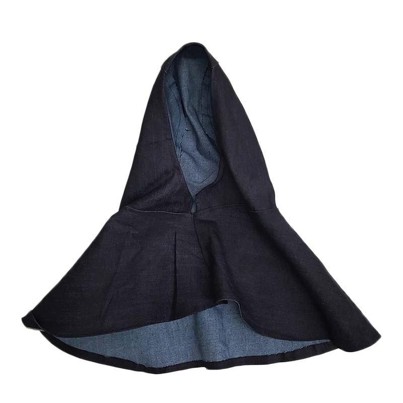 1Pc Blue Fabric <font><b>Welding</b></font> Hood Hats <font><b>Helmet</b></font> Hat Neck for