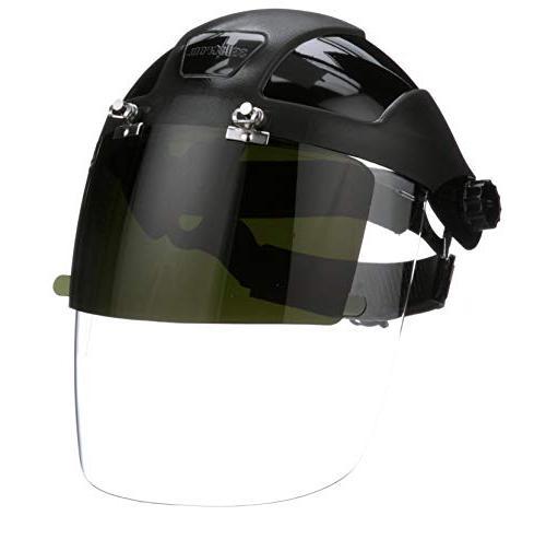 Sellstrom Plasma Cutting/Grinding, Front Shade 5 UV/IR Shield Black and Anti-Fog Window with Ratchet