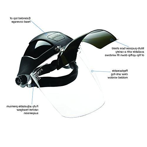 Sellstrom S32151 Plasma Shade 5 Shield and Anti-Fog Window with Headgear