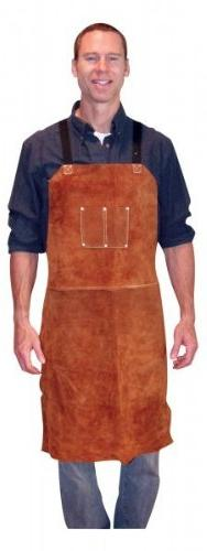 Leather Welding Apron Heat Flame Resistant Heavy Duty Work A