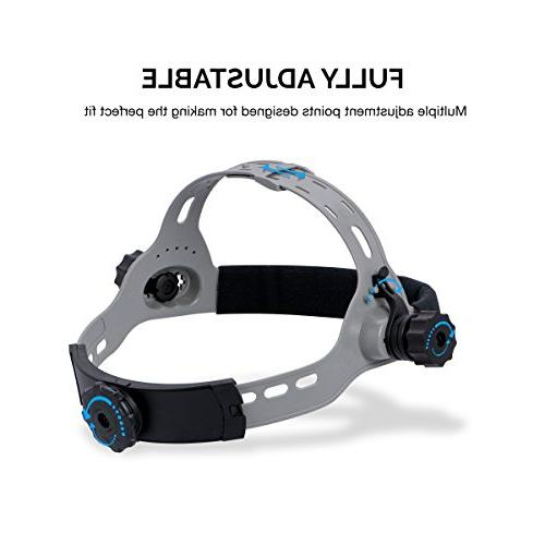 Neiko Auto-Darkening Welding Helmet MIG, MMA, MAG/CO2 Solar and Battery Red Skeleton Design
