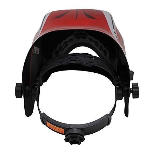 Neiko Helmet MMA,   Solar and Battery Red