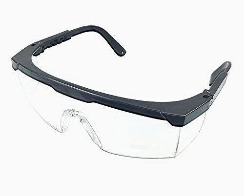 """Instapark Series Solar 14"""" Leather Gloves Safety with Black Frame Clear Lens"""