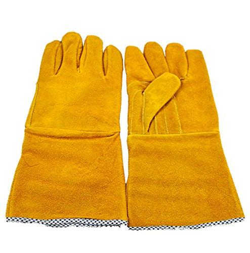 """Instapark ADF Solar Powered Auto Welding 14"""" Leather Gloves Safety with Black Frame and Clear Lens"""
