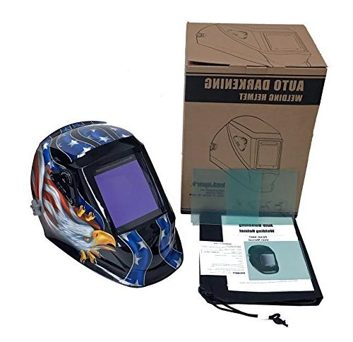 "Instapark Series Solar Auto Darkening Welding Helmet 4 Optical X 3.86"" Viewing Area Adjustable Shade #5 -"