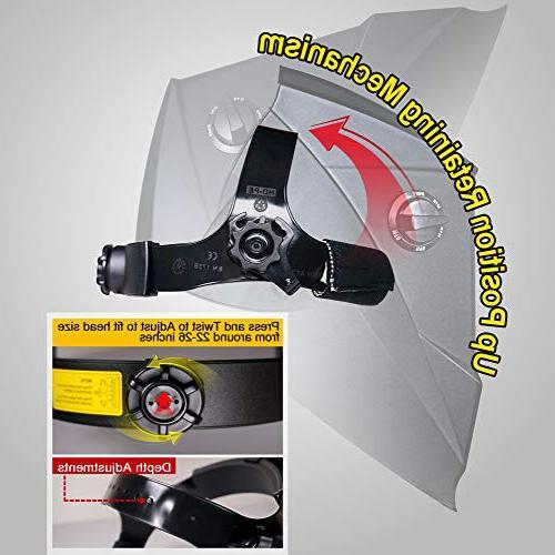 Antra Auto Darkening Helmet with Grinding 6+1 lens TIG MMA