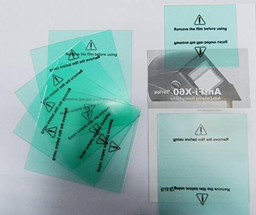 "Antra AH7-860-0000 Solar Power Auto Welding Helmet AntFi X60-8 Size 3.78""X3.5"" Shade 4/5-9/9-13 Great"