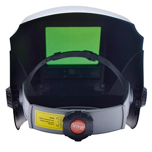 Antra AH7-X30P-0000 Digital Controlled Solar Auto Darkening Welding Helmet 4/5-8/9-13 with Extra for Plasma