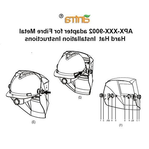 Antra Adapter Welding Helmets and Fiber Metal