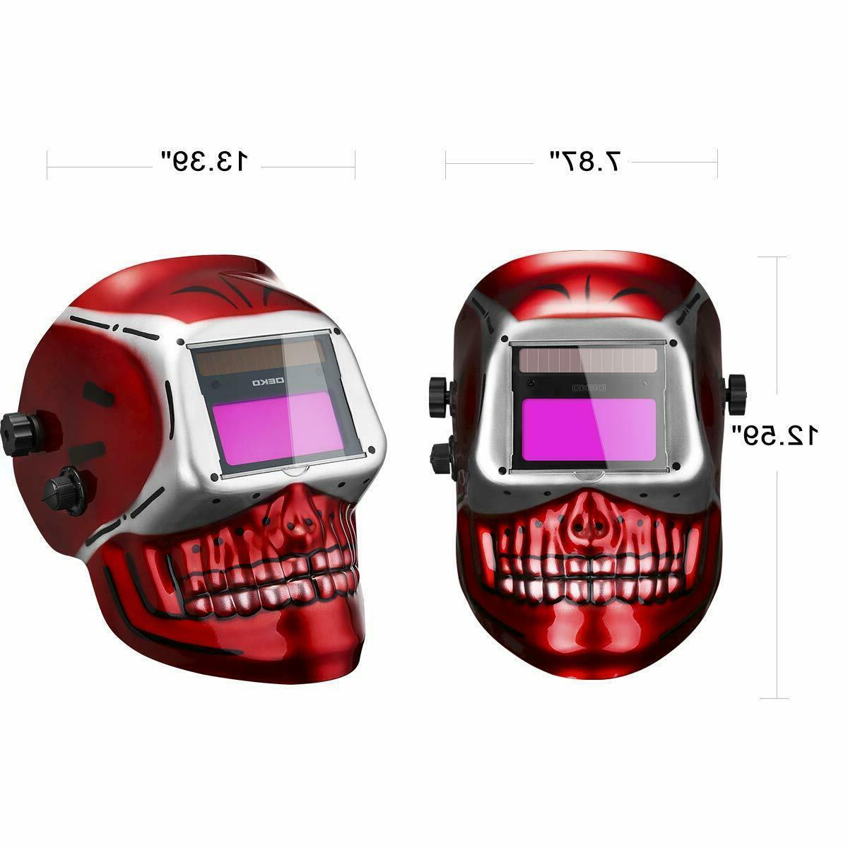 DEKO Auto Darkening Welding Helmet Solar Mig Tig Mask