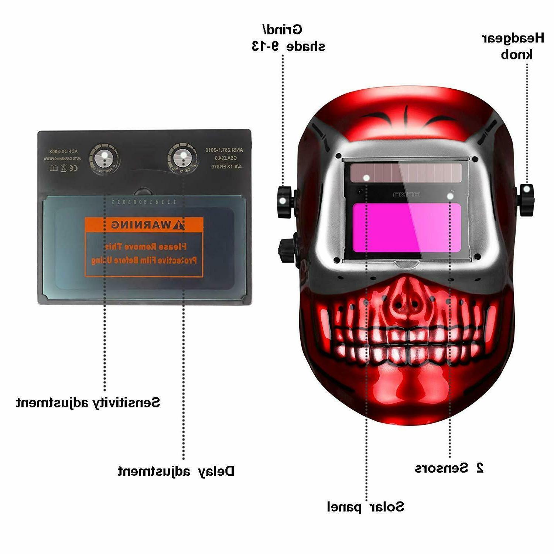 DEKO Auto Darkening Hood Welding Mig Mask