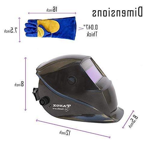 Tanox Auto Darkening Powered Helmet Shade Mig MMA, Adjustable Inch Kevlar Welding