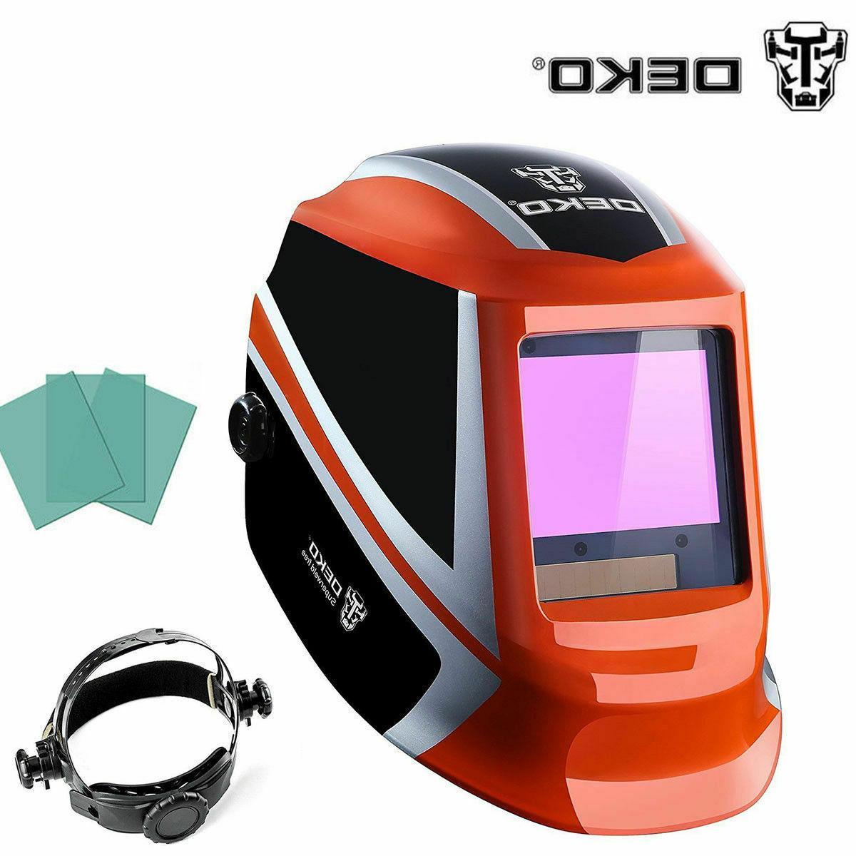 DEKO  Darkening Welding Helmet Pro Solar Auto Arc Tig Mig Ma