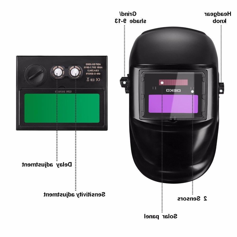 DEKO DKMZ350 Automatic <font><b>Darkening</b></font> <font><b>Welding</b></font> Mask for MIG MMA TIG <font><b>Welding</b></font> Goggles Light