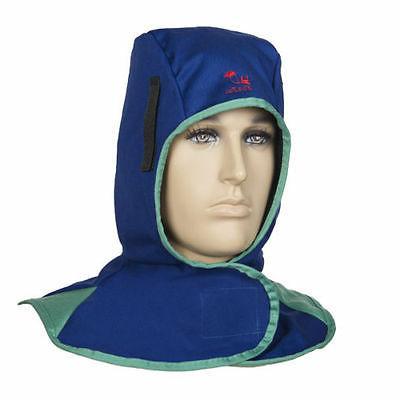 Flame welding neck protective hood head cap