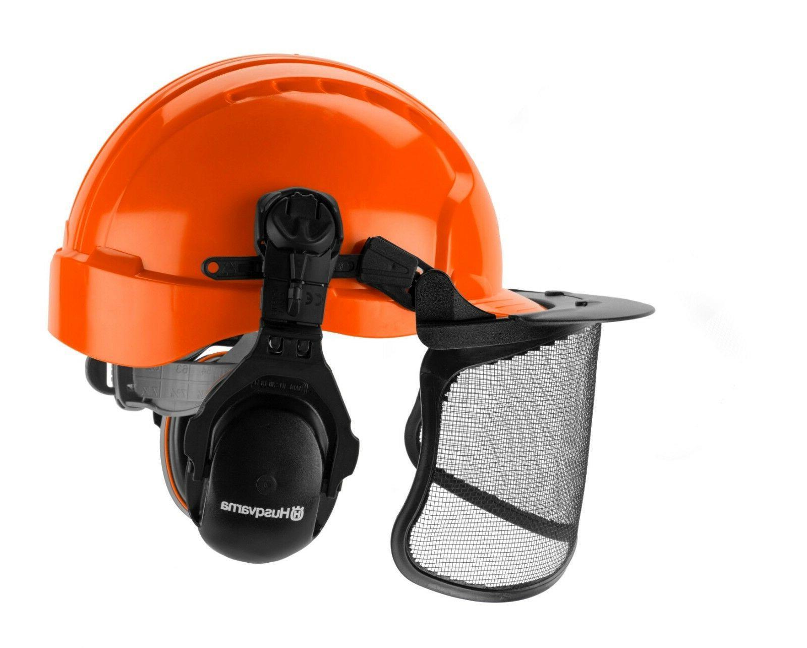 Husqvarna Pro Forest Helmet System w/ Visor Hearing Protecti