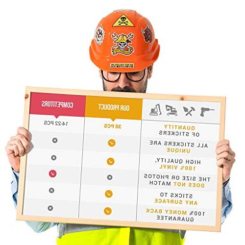 Hard hat stickers |Big 30-Pack | box,construction,union,military,ironworker,lineman,oilfield,electrician,pipeliner,ibew