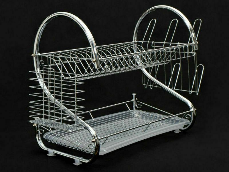 Kitchen Dish Rack Sink 2-Tier