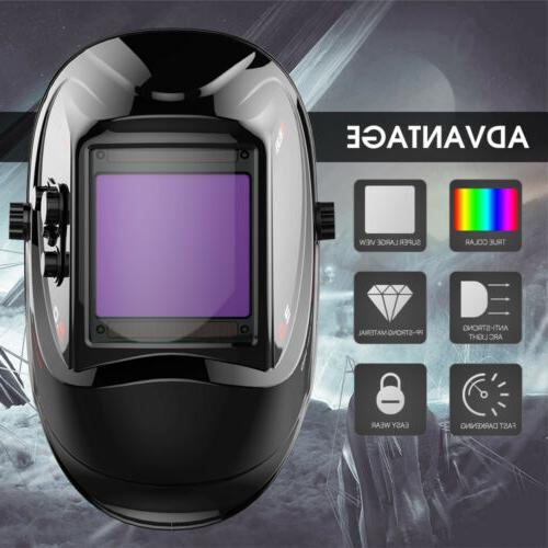 Large View Mask Auto-Darkening Helmet