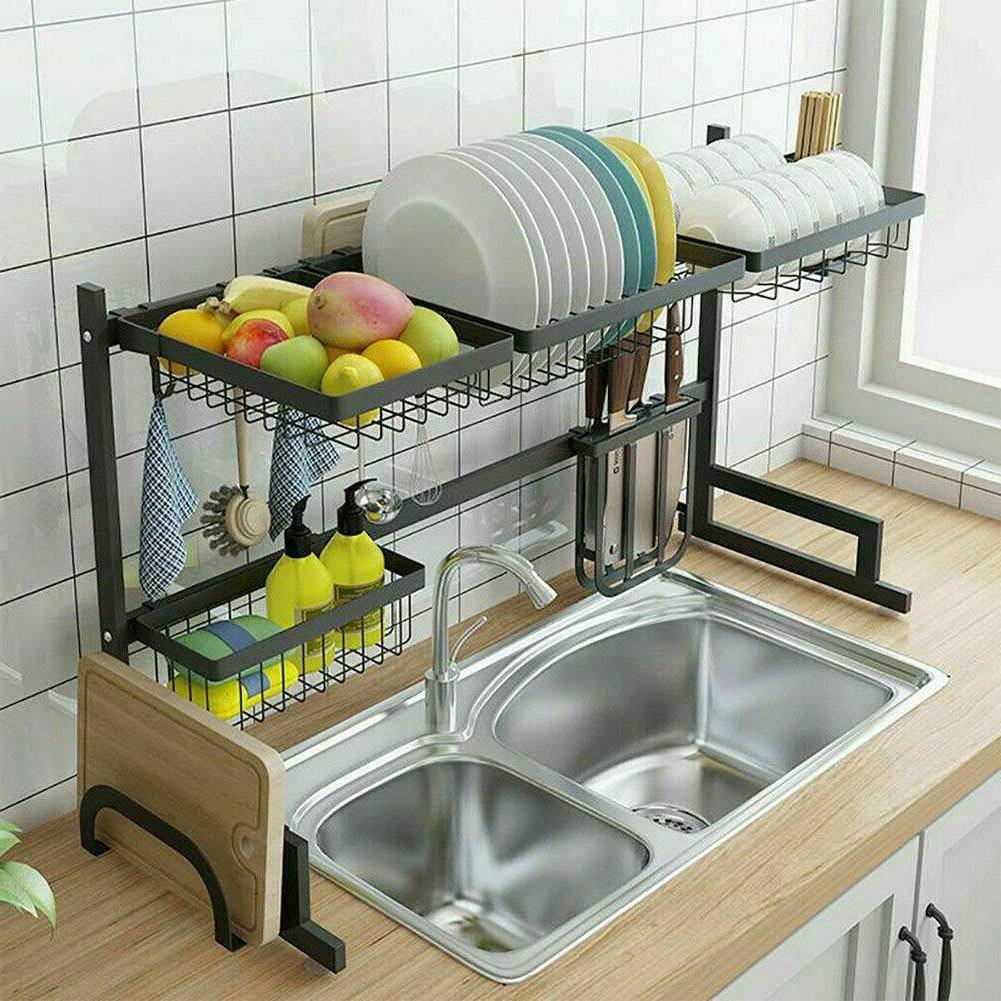 Over Rack Stainless Steel Kitchen Cutlery Holder