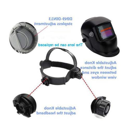 New Pro Solar Powered Auto Darkening Welding Helmet Grinding Mask