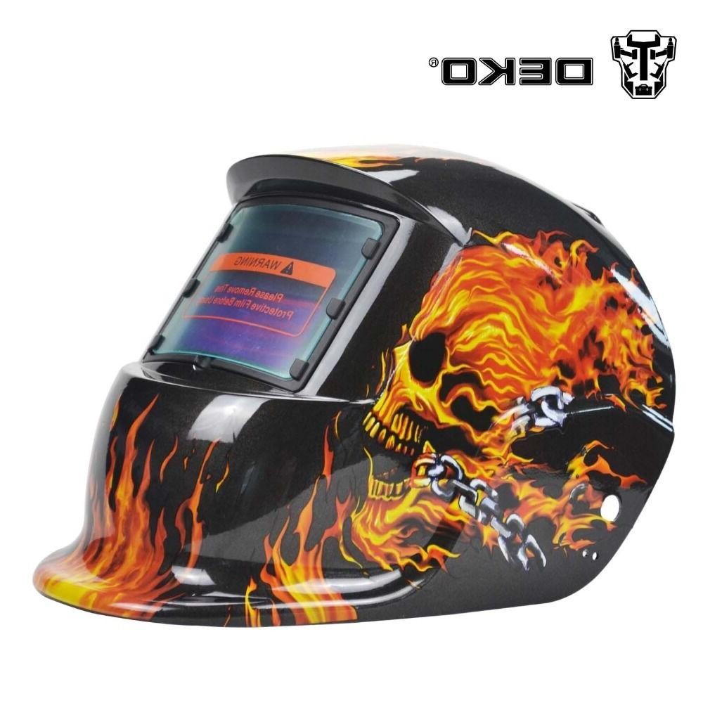 DEKO Pro Solar Auto Darkening Welding Helmet Arc Tig Mig Mas