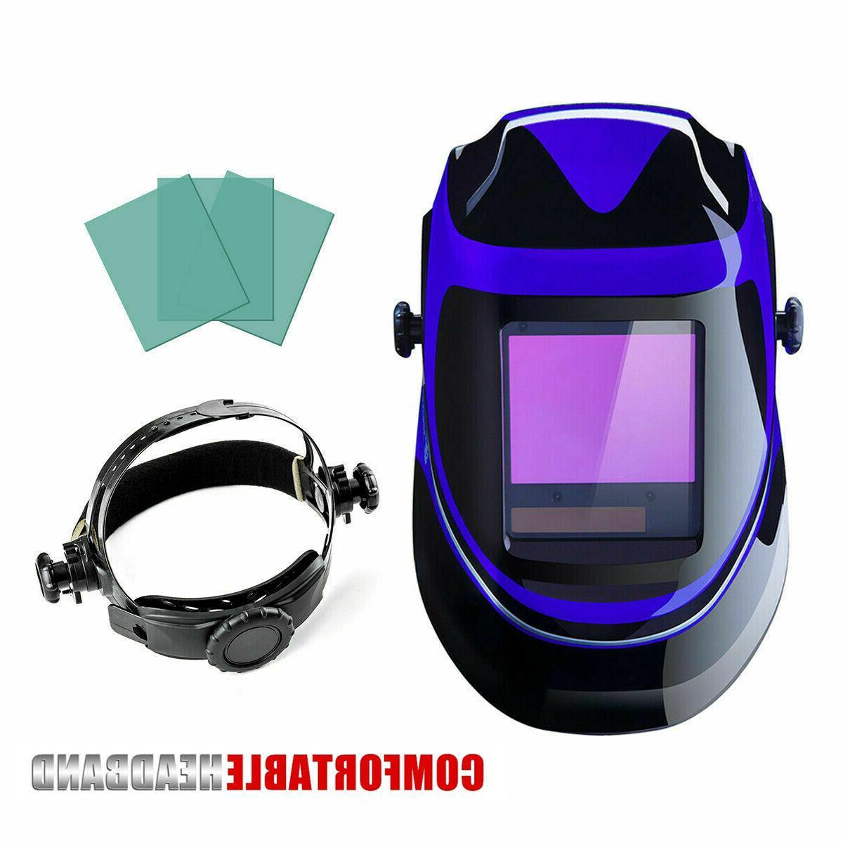 Solar large Auto Darkening Welding Helmet Mask W-3 x Free Pr
