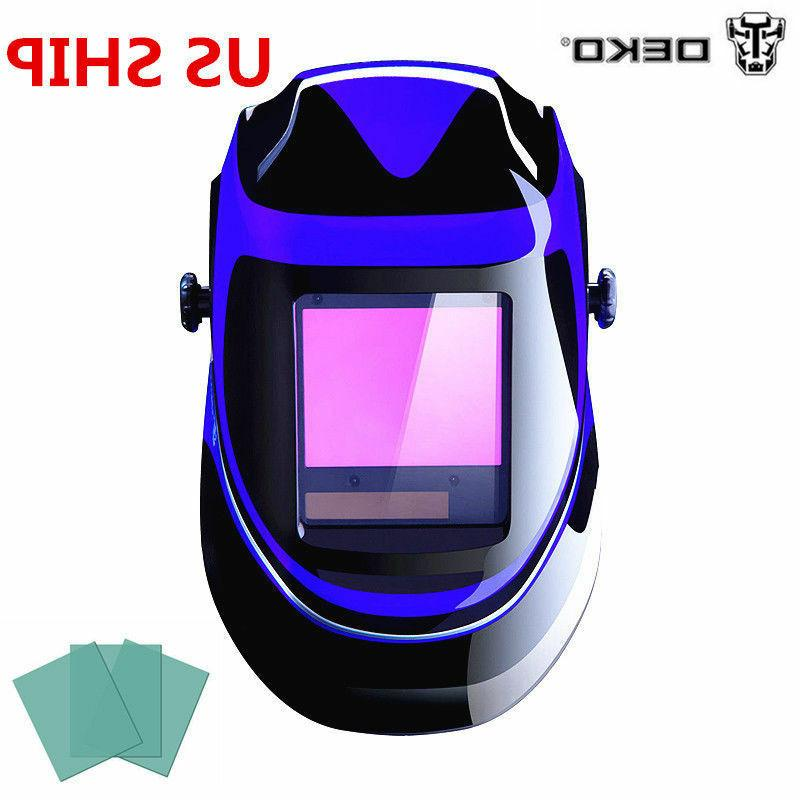 DEKOPRO Solar Auto Darkening Welding Helmet MIG MMA Electric
