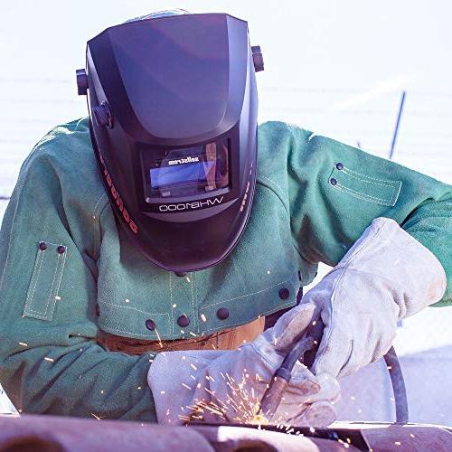 Sellstrom Auto-Darkening Filter Helmet, Adjustable Sh 4/9-13, Grind External Controls -