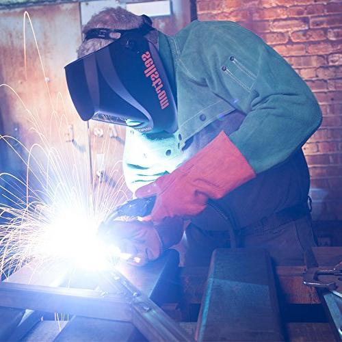 Sellstrom Advantage Filter Welding Helmet, Adjustable Sh 4/9-13, Grind External Controls - Headgear, Nylon