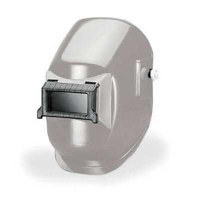 silver passive welding helmet