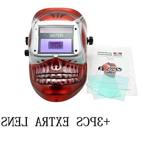 Doitpower Auto-Darkening Welding Helmet Variable shade Replaceable 2 Sensor