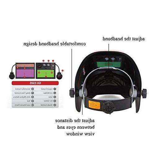 Doitpower designed Welding Helmet 9-13 shade with 2
