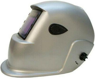 Sliver Helmet Welder LARGE Head Face Protection Solar Auto Darken